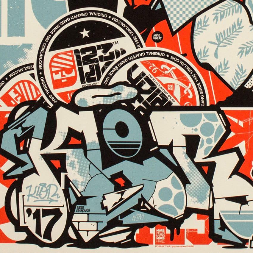 123klan graffiti mural image